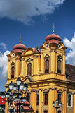 German Cathedral. In Union Square, Timisoara, Romania Royalty Free Stock Photo