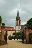 German catholic church garden Royalty Free Stock Image