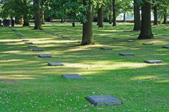 German cemetery, Flanders, shallow dof Stock Image