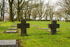 German cemetery friedhof in flanders fields menen belgium Royalty Free Stock Image