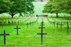 A German cemetery of world war one in France royalty free stock images