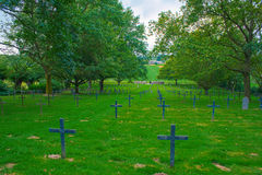 A German cemetery of world war one in France Stock Photo