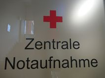 Central Emergency Room in German language royalty free stock images