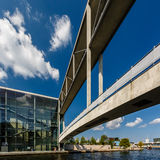 German Chancellery (Bundeskanzleramt) and Bridge over Spree Stock Images