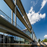 German Chancellery (Bundeskanzleramt) and Bridge over Spree Royalty Free Stock Photography