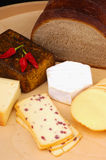 German cheese and bread Stock Photo