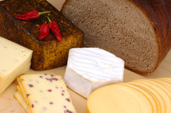 German cheese and bread Royalty Free Stock Image