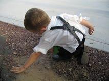 German child playing Royalty Free Stock Image