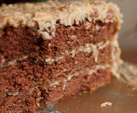 German Chocolate Cake Close-up Royalty Free Stock Images