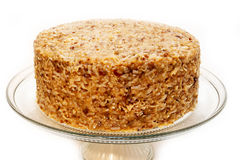 German Chocolate Cake Isolated Stock Photography
