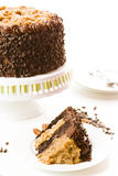 German chocolate cake Royalty Free Stock Photos