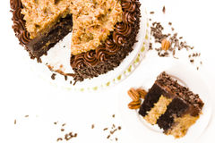 German chocolate cake Royalty Free Stock Photography