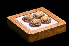 German Chocolate Cookies royalty free stock image