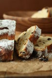 German Christmas bread. Stollen ,delicious teatime Royalty Free Stock Images