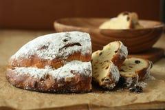 German Christmas bread. Stollen ,delicious teatime Royalty Free Stock Photos