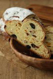 German Christmas bread. Stollen ,delicious teatime Royalty Free Stock Photography