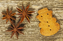 German Christmas cake with star anise Stock Photos