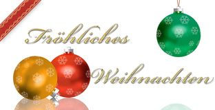 German Christmas Greeting Card Stock Photos