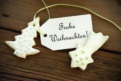 German Christmas Greetings Royalty Free Stock Image