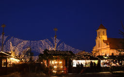 German christmas market. At night Royalty Free Stock Images