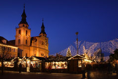 German christmas market. At night Stock Images