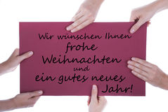 German Christmas and New Year Greetings Stock Photography