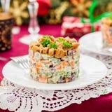 German Christmas Salad Royalty Free Stock Photo