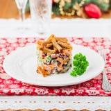 German Christmas Salad Stock Photos