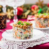 German Christmas Salad Royalty Free Stock Photos