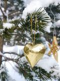 German christmas tree with homemade ornaments Royalty Free Stock Photo