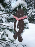 German christmas tree with homemade ornaments rr Stock Photography