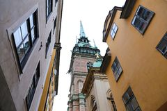 German Church in Gamla Stan, Stockholm, Sweden Stock Photos