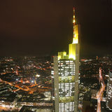 German city Frankfurt – Commerzbank tower Royalty Free Stock Photography