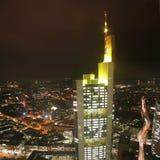 German city Frankfurt – Commerzbank tower Royalty Free Stock Photography