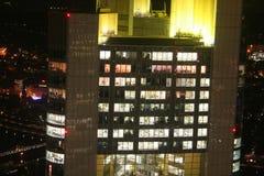 German city Frankfurt – Commerzbank tower Royalty Free Stock Photo