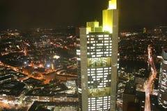 German city Frankfurt at night Stock Image