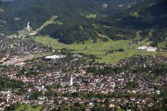 German city Garmisch Royalty Free Stock Photography