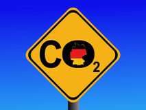 German CO2 emissions sign Royalty Free Stock Photo