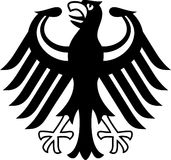 German coat of arms. Germany, coat of arms isolated on whote Stock Photography
