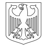 German coat of arms icon, outline style. German coat of arms icon. Outline illustration of german coat of arms vector icon for web Royalty Free Stock Photo