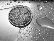 German coin. German silver coin Stock Photography