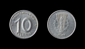 German coin. 10 pfennig - 1948 Stock Images