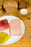 German cold meal, traditional cuisine Stock Images