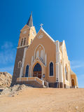 German colonial church in namibian Luderitz Royalty Free Stock Image