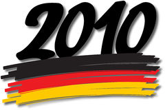 German colors 2010. Vector illustration of a hand-drawn germany flag covered with 2010 Stock Photo