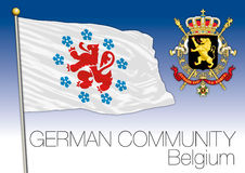 German community regional flag, Belgium Royalty Free Stock Images