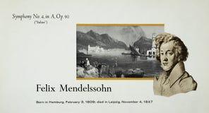 German composer Felix Mendelssohn royalty free stock images