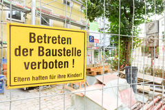German construction site Stock Photography