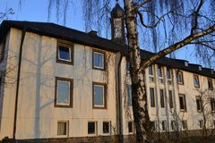 German convent. The building of modern German monastery Royalty Free Stock Photos