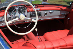 German convertible sports car cabin interior Stock Images